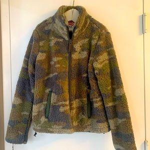 Camo zip up fleece jacket